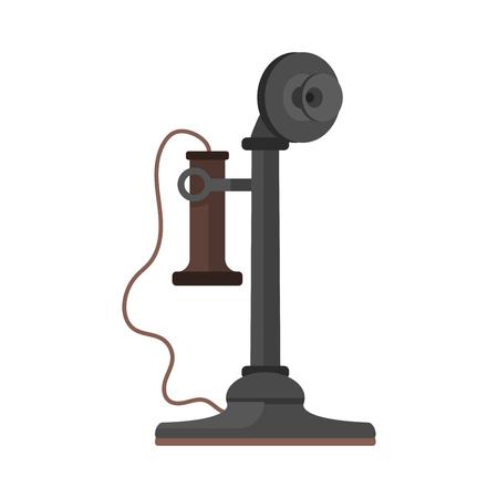 Telephone vintage vector icon.