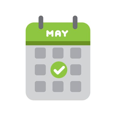 Calendar web icon office organizer business graphic paper plan appointment.