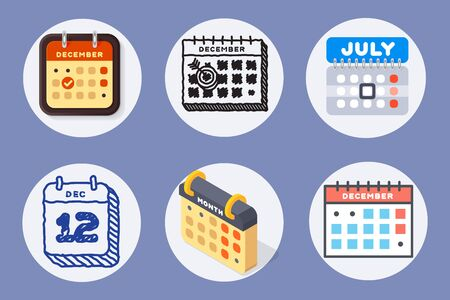 appointment: Calendar web icons office organizer business graphic paper plan appointment.