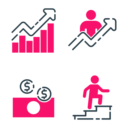Motivation Concept Chart Pink Icon Business Strategy Development