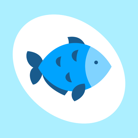 Craft blue fish animal nature food and ecology environment tropical natural thunnus icon isolated saltwater healthy big seafood nature art vector illustration. Illustration