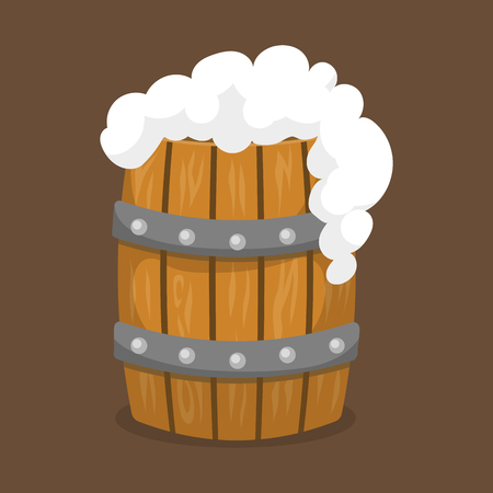 Alcohol beer vector barrel illustration celebration refreshment brewery icon and part. Illustration