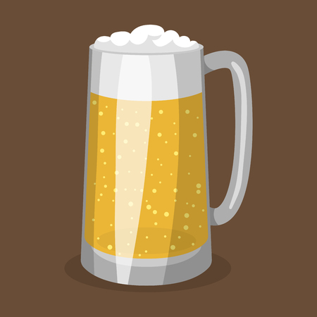 Alcohol beer vector illustration refreshment brewery and party dark beverage mug frosty craft drink.