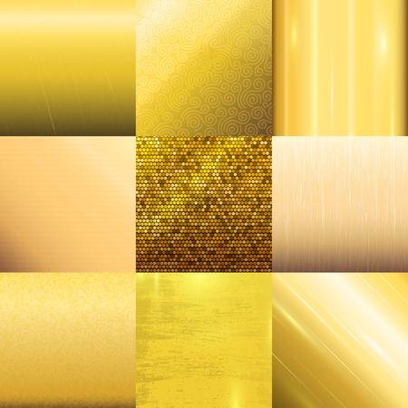 Golden texture pattern vector template.