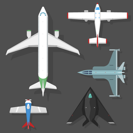 fuselage: airplane illustration top view and aircraft transportation travel way design journey object.
