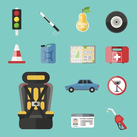 Auto-transport moto icon symbol véhicule équipement service véhicule voiture outils illustration vectorielle. Banque d'images - 76631680