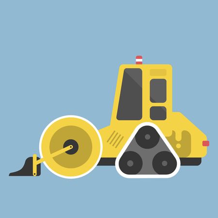 Construction tractor icon illustration.