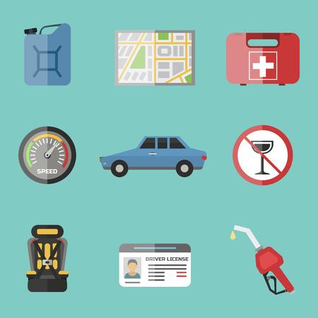 Auto transport pictogram illustratie.