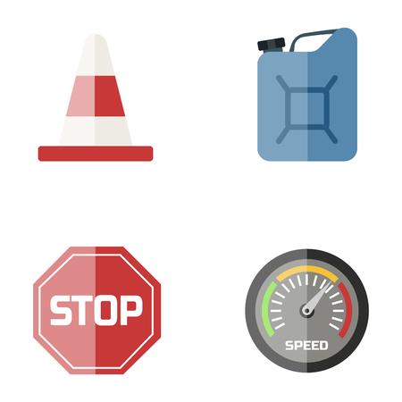 Auto-transport moto icon symbol véhicule équipement service véhicule voiture outils illustration vectorielle. Banque d'images - 77035912