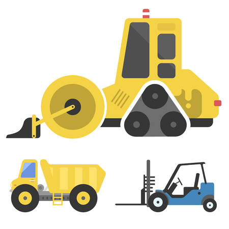 Construction delivery truck transportation vehicle mover road machine equipment vector. Stock Vector - 77172771