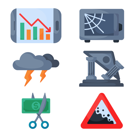 Symbol concept problem economy banking business finance design investment icon vector.