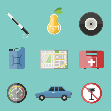 freshener: Auto transport motorist icon symbol vehicle equipment service car driver tools vector illustration.