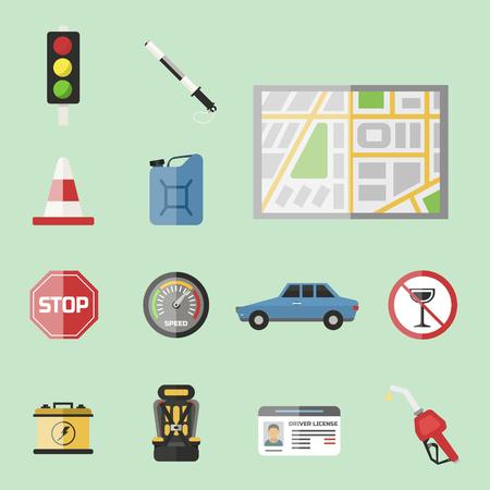 Auto-transport moto icon symbol véhicule équipement service véhicule voiture outils illustration vectorielle.