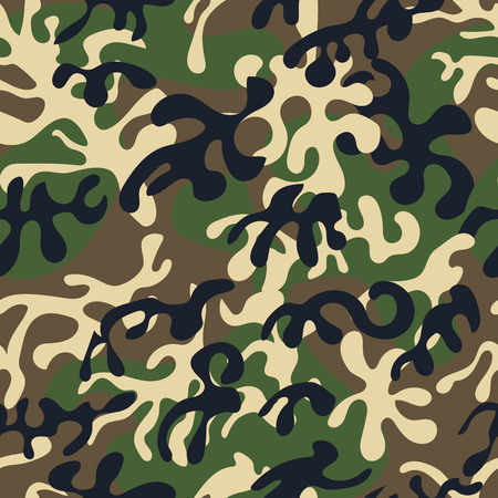 Creative universal hand drawn seamless pattern abstract fill military background vector illustration. Фото со стока - 77511723