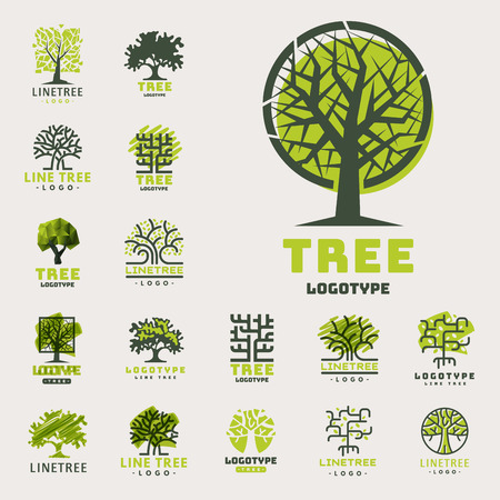 Tree outdoor travel green silhouette forest badge coniferous natural badge tops line spruce vector. Иллюстрация