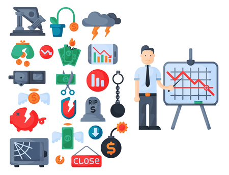危機記号概念問題経済ビジネス金融デザイン投資アイコン ベクトルの銀行。