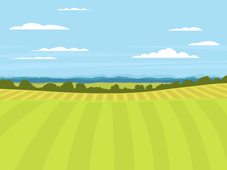 Village landscapes vector illustration farm house agriculture graphic countryside