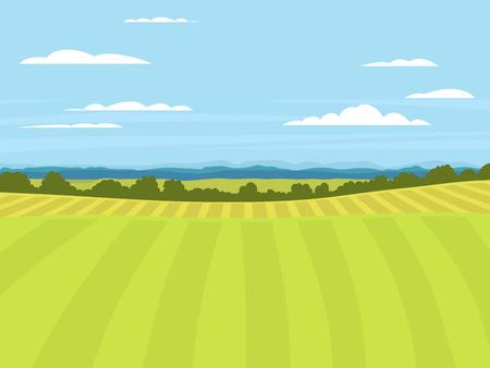 Dorp landschappen vector illustratie boerenhuis landbouw grafisch platteland
