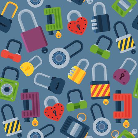 House door-lock access equipment web safety conept padlock vector illustration. Stock Illustration - 79167122