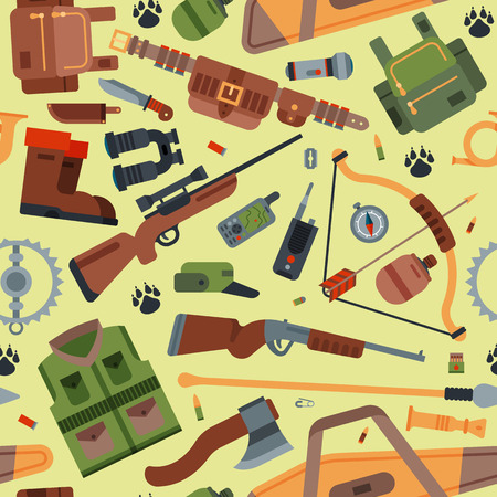 Hunting camping outdoor time vector