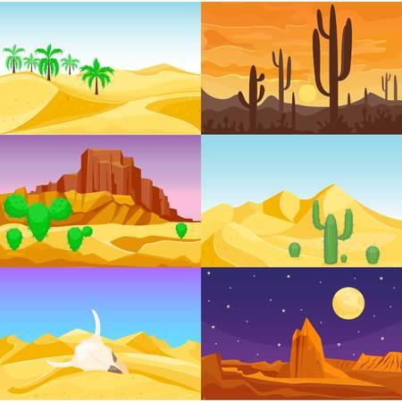 Desert mountains sandstone wilderness landscape background travel vector illustration. Banco de Imagens - 79334979
