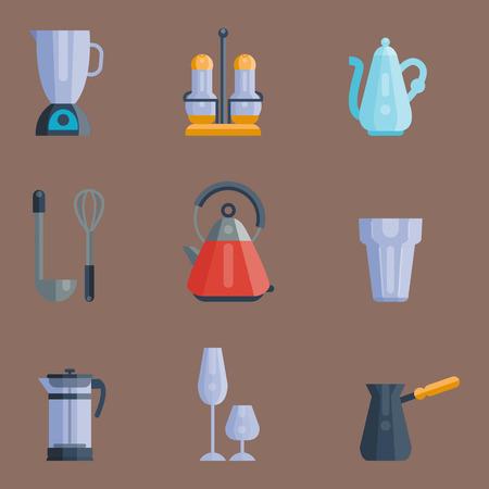 527c6c7bb #79923811 - Utensilios de cocina iconos ilustración vectorial casa cena  cocinar alimentos utensilios de cocina