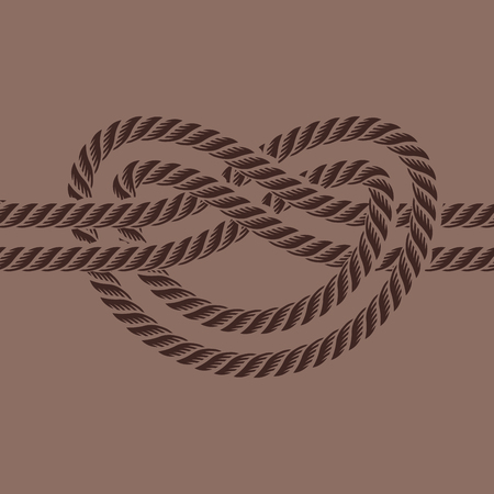 Sea boat rope knot vector illustration isolated marine navy cable natural tackle sign Ilustração