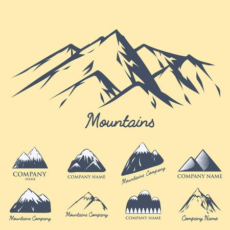 산 실루엣 벡터 등산 야외 자연 풍경, 옥외, 자연, 언덕, 피크, 하이킹, 등산