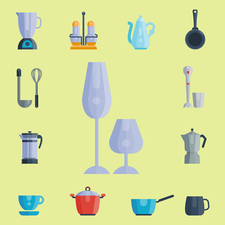 grater: Kitchen utensils icons vector illustration household dinner cooking food kitchenware
