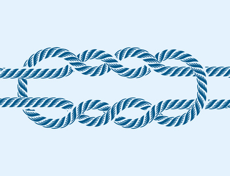 Sea boat rope knot vector illustration isolated marine navy cable natural tackle sign Ilustracja