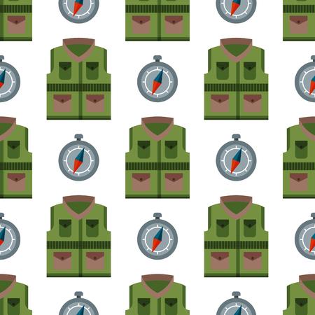 Bulletproof vest seamless pattern background police bodyguard army uniform vector illustration
