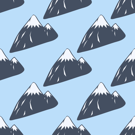 Berg Vektor Silhouette Natur im Freien felsigen Schnee Eis Top dekorative Landschaft Reise Klettern Hügel Peak Wandern Illustration Standard-Bild - 80405768
