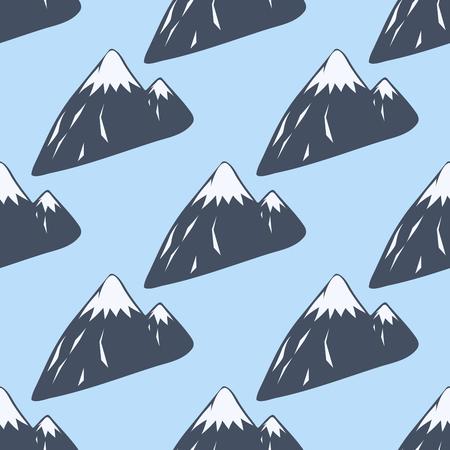 Montagne, vecteur, silhouette, nature, extérieur, rocheux, neige, glace, haut, décoratif, paysage, voyage, escalade, colline, pic Banque d'images - 80405768