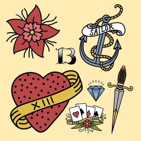 roses and blood: Old school vintage retro tattoo ink art style hand drawn tattooing symbol traditional graphic drawing vector illustration