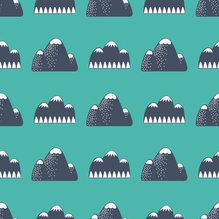 Mountain vector silhouette nature outdoor rocky snow ice top decorative landscape travel climbing hill peak hiking illustration
