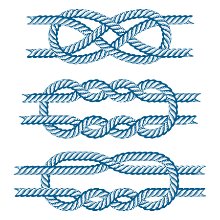 Sea boat rope knots vector illustration isolated marine navy cable natural tackle sign Stock Vector - 80709391