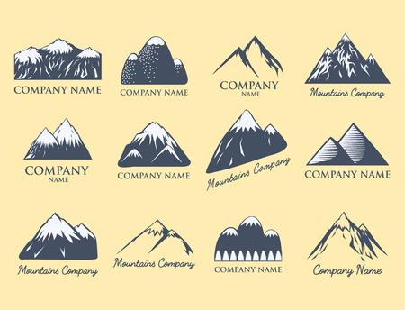Montagne, vecteur, silhouette, nature, extérieur, rocheux, neige, glace, haut, décoratif, paysage, voyage, escalade, colline, pic Banque d'images - 80839614
