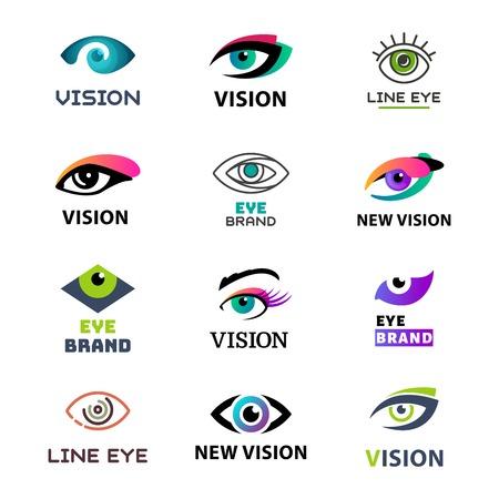Eye blinker business vision daylight glimmer template logotype idea keeker light peeper company badge vector illustration