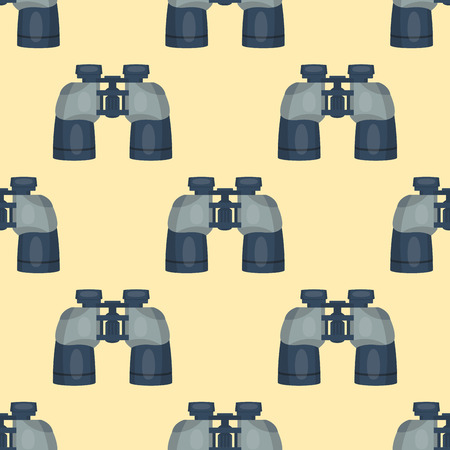 nightvision: Professional seamless pattern binoculars glass look-see spyglass optics device camera digital focus optical equipment vector illustration Illustration