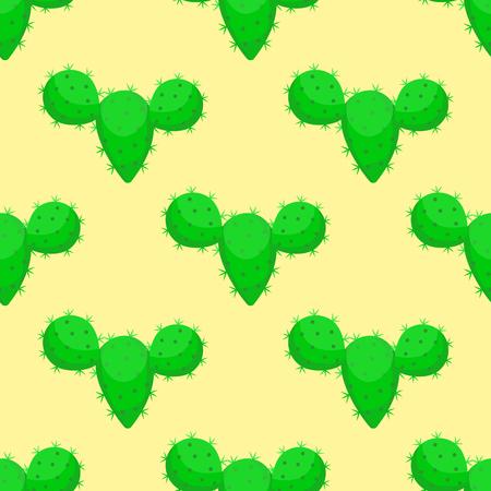 サボテン自然砂漠の花緑メキシコ ジューシーな熱帯植物サボテン花のシームレスなパターン ベクトル イラストです。  イラスト・ベクター素材