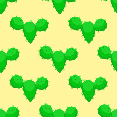 Cactus nature desert flower green mexican succulent tropical plant seamless pattern cacti floral vector illustration. Illustration