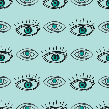 Eye blinker seamless pattern vision daylight glimmer template keeker light peeper company vector illustration