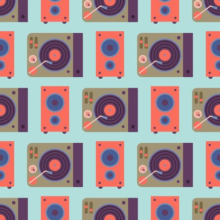 Hip hop accessory musician instruments background expressive seamless pattern rap music dj vector illustration.