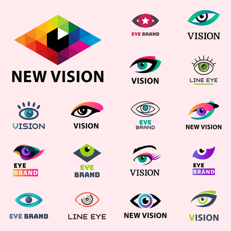 Eye blinker business vision daylight glimmer template logotype idea keeker light peeper company badge vector illustration
