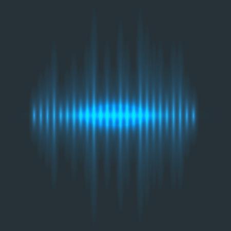 Le onde audio dell'equalizzatore di musica digitale di vettore progettano l'illustrazione del segnale di visualizzazione del segnale audio del modello. Elettronica multitraccia per la colonna sonora. Archivio Fotografico - 82998070