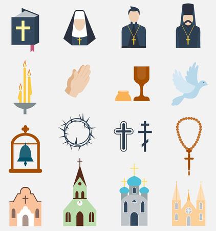 Religion charity icons vector illustration. 向量圖像