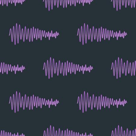 Ein Vektor digitale Musik Equalizer Audio Wellen nahtlose Muster Design-Vorlage Audio Signal Visualisierung Signal Illustration. Multitrack-Editing-System Soundtrack-Linie bar Spektrum elektronisch. Standard-Bild - 83098970