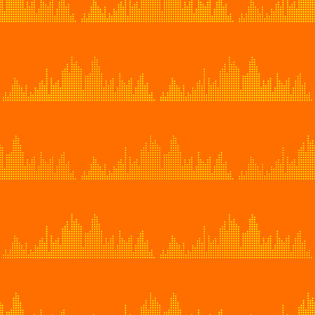 Vector digital music equalizer audio waves seamless pattern design template audio signal visualization signal illustration. Illustration