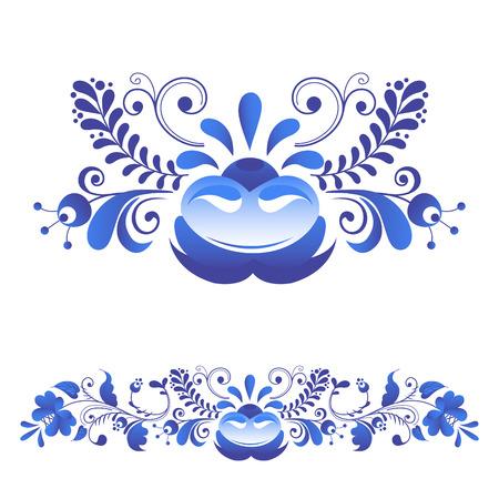 Russian ornaments art frames. Ilustrace