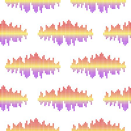 Vektor digitale Musik-Equalizer Audio-Wellen nahtlose Muster Design-Vorlage Audio-Signal Visualisierung Signal Illustration.
